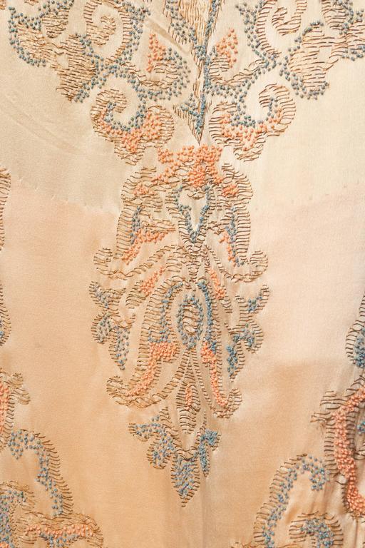 Late Edwardian Beaded Silk Dress 10