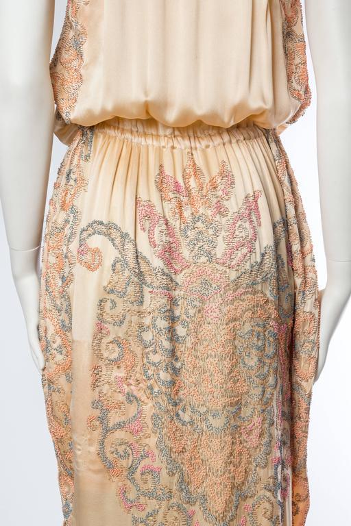 Late Edwardian Beaded Silk Dress 9
