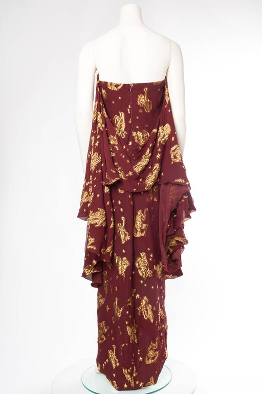 Brown Jean Paul Gaultier Golden Astrology Skirt Dress For Sale