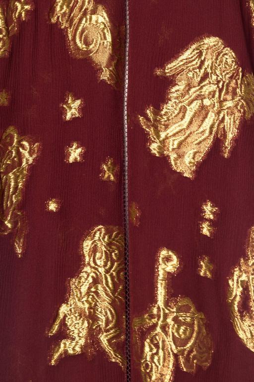 Jean Paul Gaultier Golden Astrology Skirt Dress For Sale 3