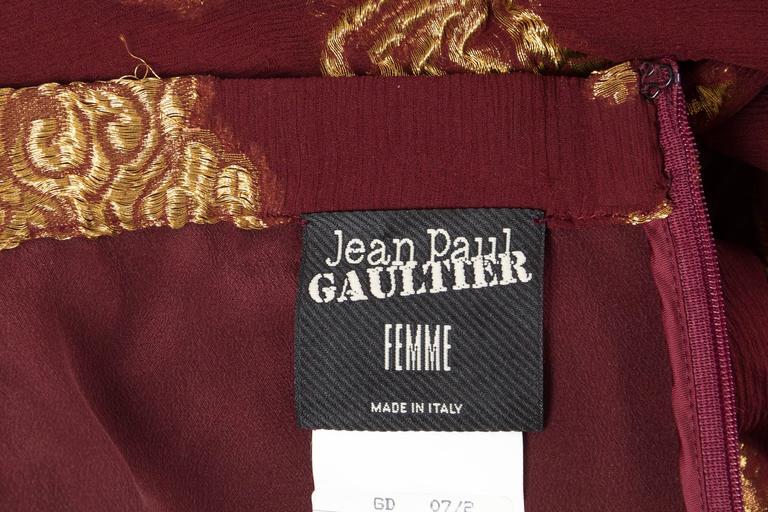 Jean Paul Gaultier Golden Astrology Skirt Dress For Sale 5