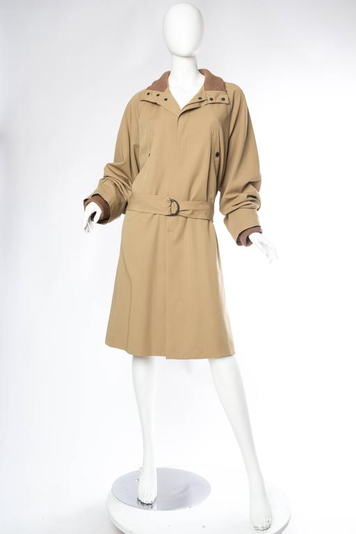 Meant for a He or a She Jean Paul Gaultier turned conventions on their head with his revolutionary yet short-lived unisex label. He cheekily refers to this literally in the design of the label itself. Cut full and chic in a fabric which has a