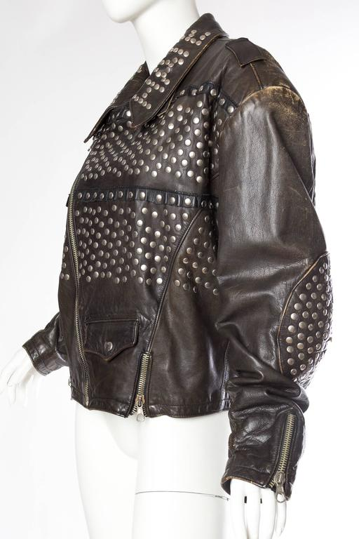 Iconic Jean Paul Gaultier Love Hate Studded Leather Jacket 4