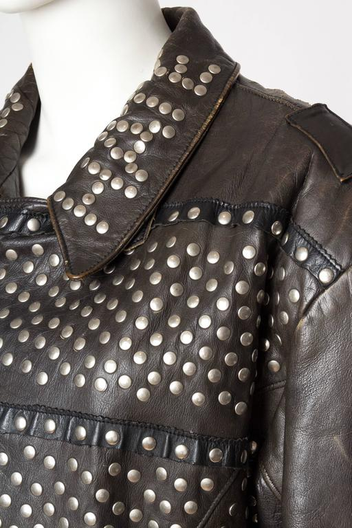 Iconic Jean Paul Gaultier Love Hate Studded Leather Jacket 7