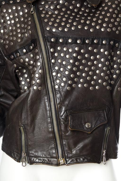 Iconic Jean Paul Gaultier Love Hate Studded Leather Jacket 8