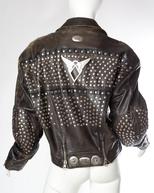 Iconic Jean Paul Gaultier Love Hate Studded Leather Jacket 5