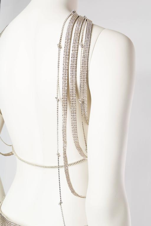 Gianni Versace Couture Metal Mesh Backless Dress with Crystals 7