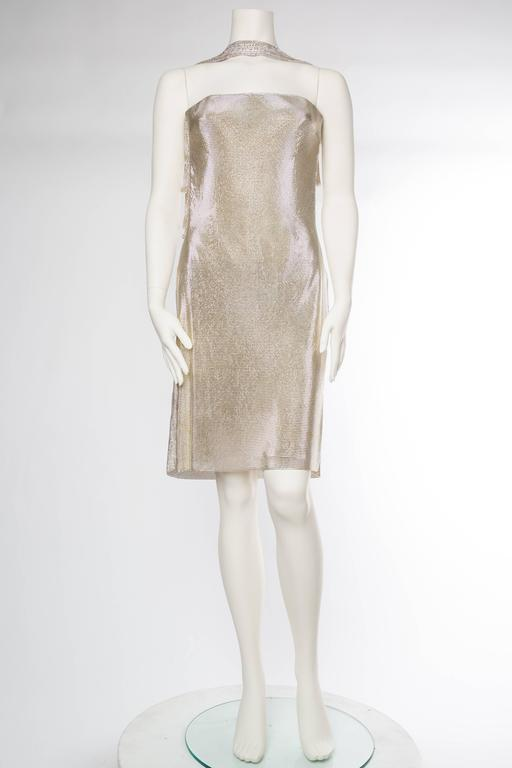 Gianni Versace Couture Metal Mesh Backless Dress with Crystals 3