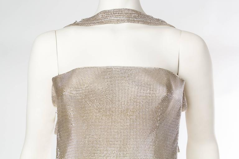 Gianni Versace Couture Metal Mesh Backless Dress with Crystals 6