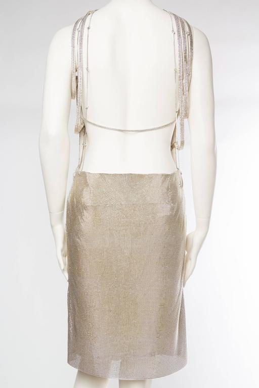 Gianni Versace Couture Metal Mesh Backless Dress with Crystals 5