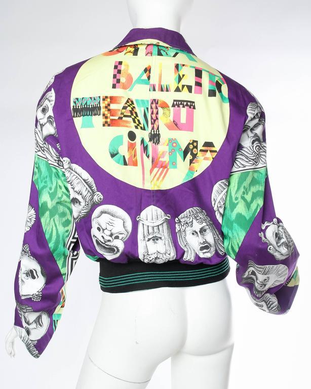 Gianni Versace Ballet Theatre Cinema Bomber Jacket For Sale 2