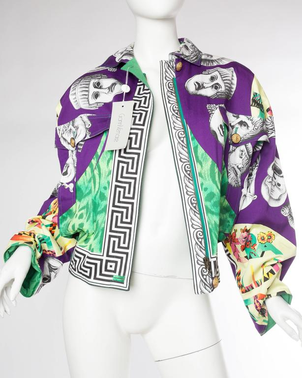 Gianni Versace Ballet Theatre Cinema Bomber Jacket In New never worn Condition For Sale In New York, NY