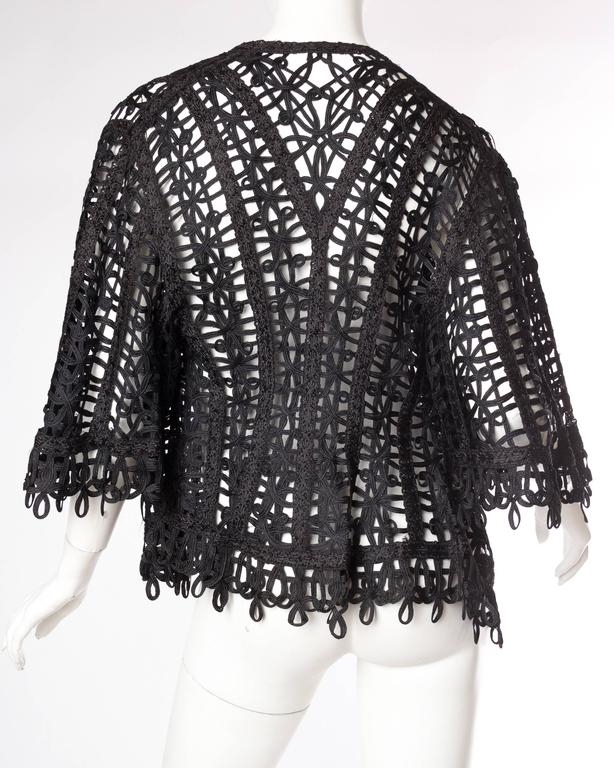 Victorian Soutache Braid Lace Jacket For Sale 2