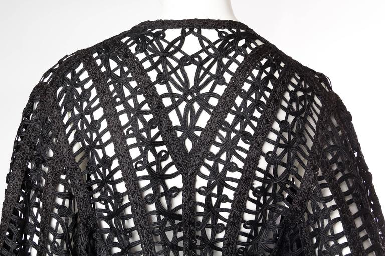 Victorian Soutache Braid Lace Jacket For Sale 3