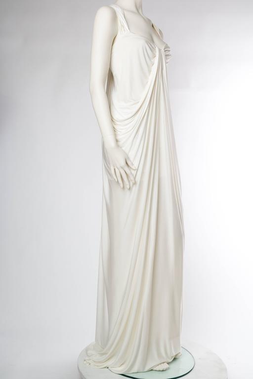 Donna Karan White Silk Jersey Gown 3