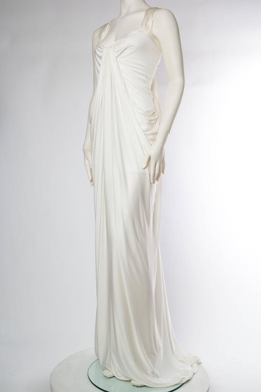 Donna Karan White Silk Jersey Gown 4