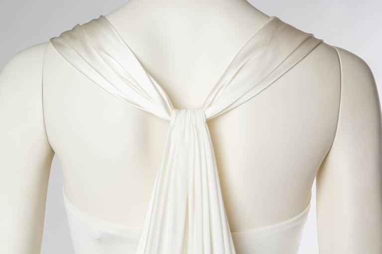 Donna Karan White Silk Jersey Gown 7