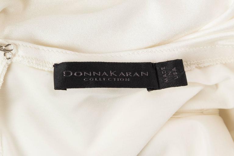 Donna Karan White Silk Jersey Gown 10