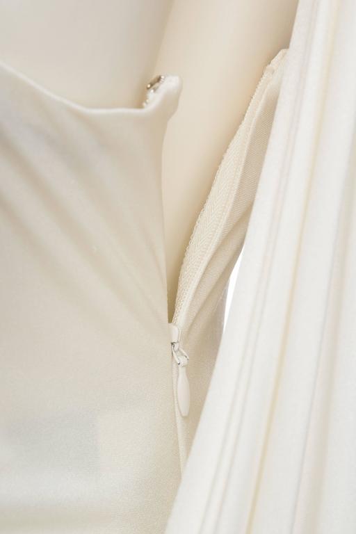 Donna Karan White Silk Jersey Gown 9