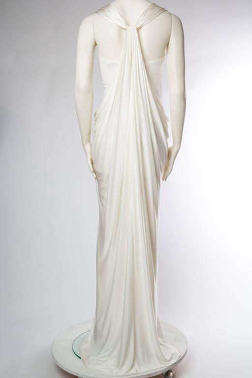 Donna Karan White Silk Jersey Gown 5
