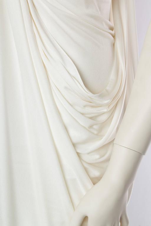Donna Karan White Silk Jersey Gown 8