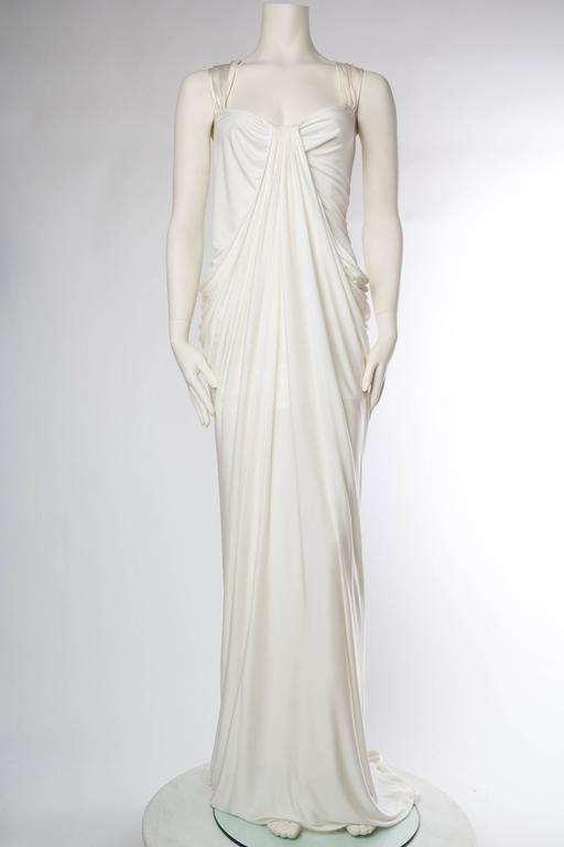 Donna Karan White Silk Jersey Gown 2