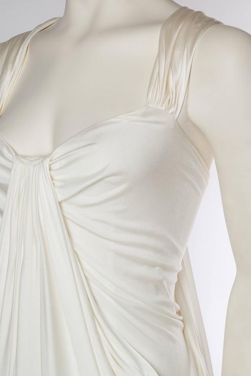 Donna Karan White Silk Jersey Gown 6