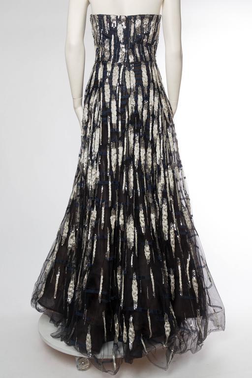 Women's Oscar De La Renta Beaded Tulle Gown For Sale