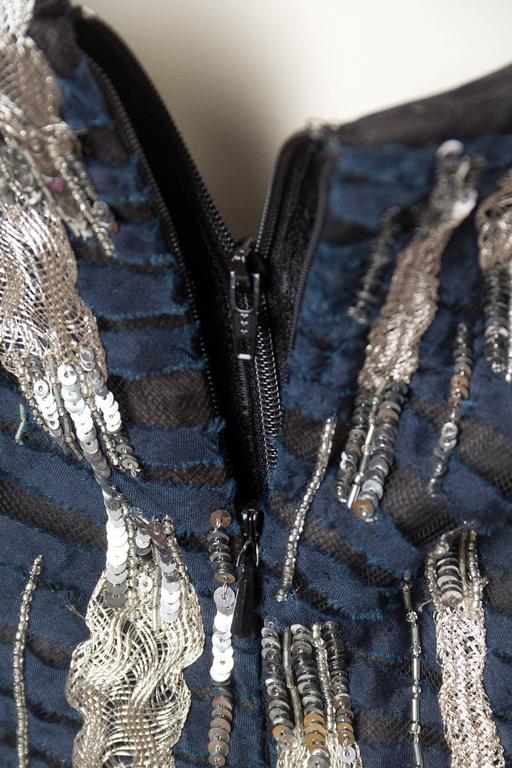 Oscar De La Renta Beaded Tulle Gown For Sale 3