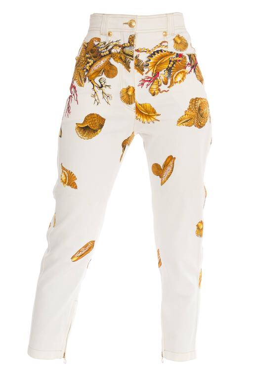 1990s Gianni Versace Couture Capri Jeans For Sale At 1stdibs