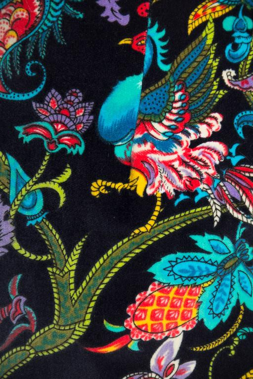 1960s Exotic Printed Velvet Miniskirt  8