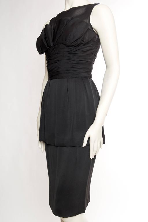 1950s Christian Dior Cocktail Dress In Excellent Condition For Sale In New York, NY