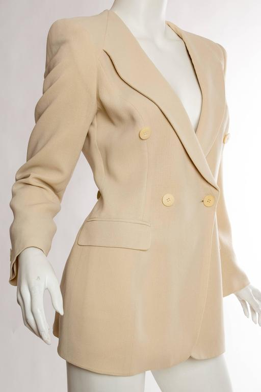 Giorgio Armani Minimalist Blazer In Excellent Condition For Sale In New York, NY