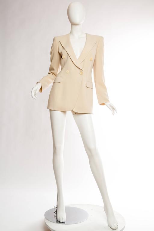 Beige Giorgio Armani Minimalist Blazer For Sale