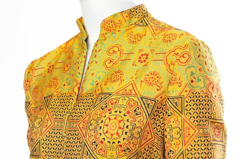 1960s Adele Simpson Chinese Inspired Dress For Sale 2