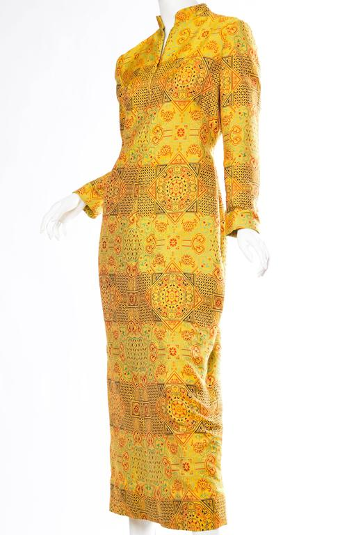 Women's 1960s Adele Simpson Chinese Inspired Dress For Sale