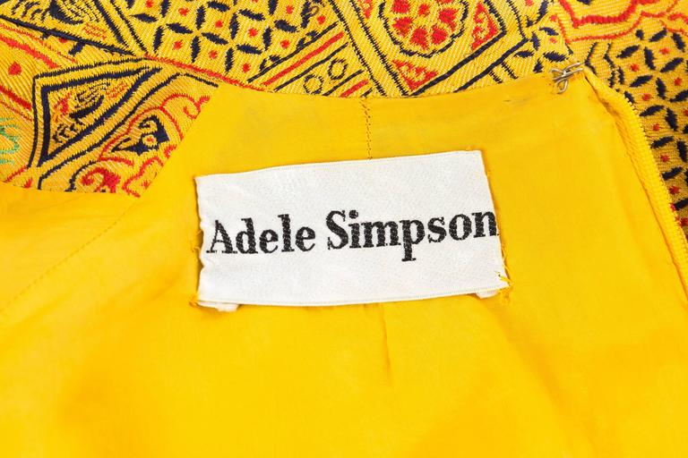 1960s Adele Simpson Chinese Inspired Dress For Sale 6