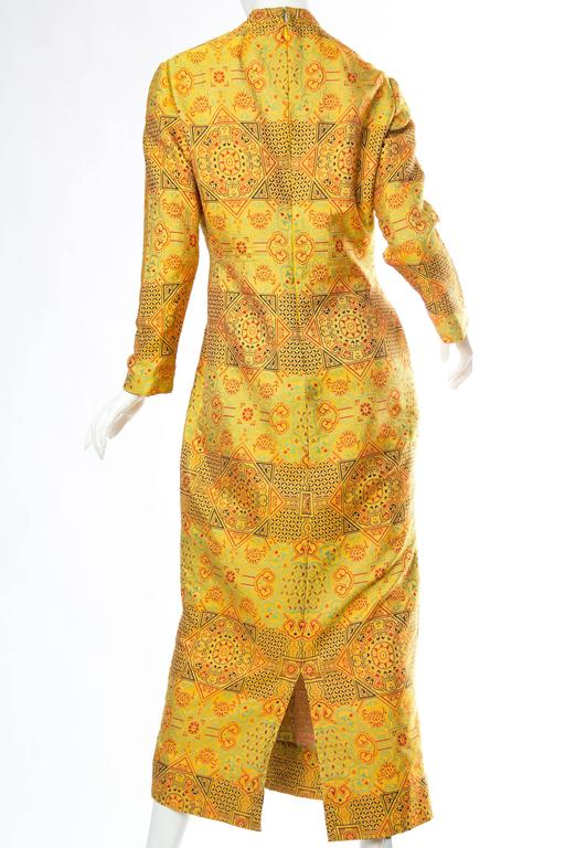 1960s Adele Simpson Chinese Inspired Dress For Sale 1