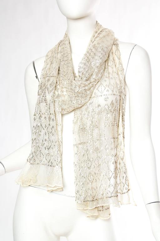 1920s Egyptian Assuit Shawl In Excellent Condition For Sale In New York, NY