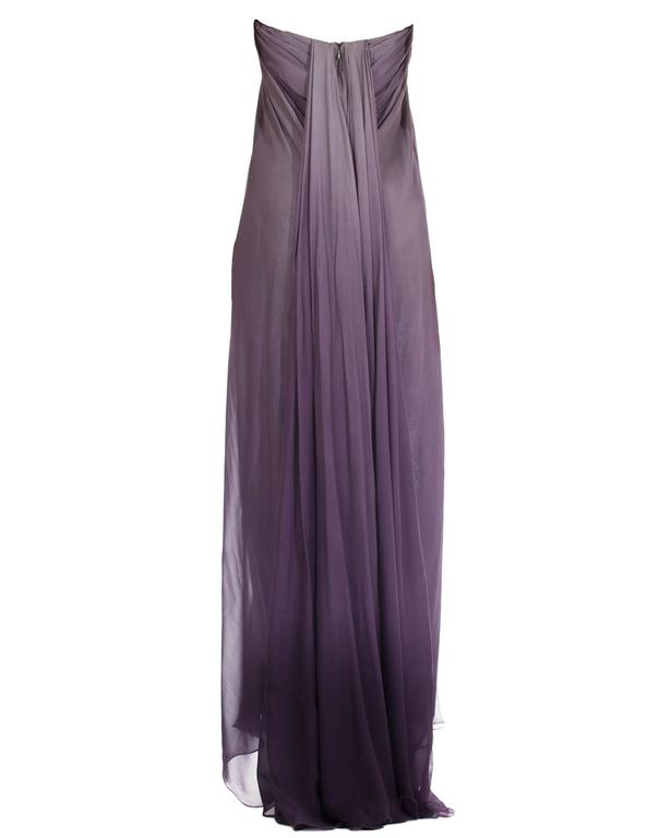 McQueen Purple gown, Autumn/Winter 2004 In Excellent Condition For Sale In New York, NY