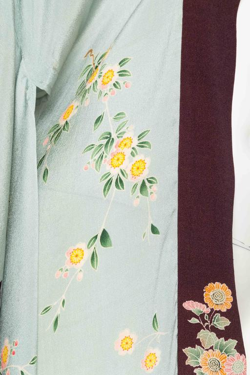 1920s Printed Silk Kimono For Sale 3