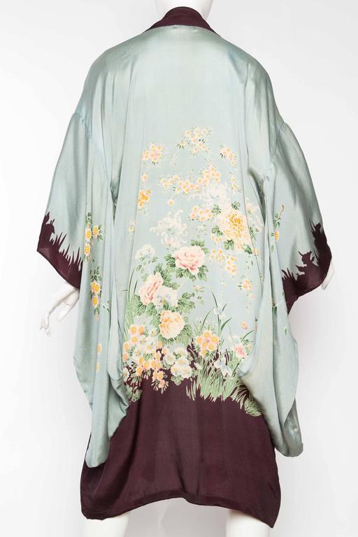 1920s Printed Silk Kimono For Sale 1