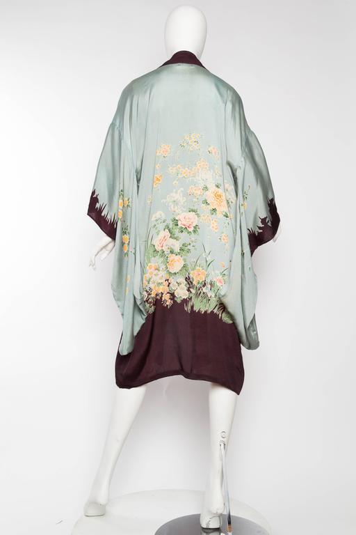 1920s Printed Silk Kimono For Sale 2