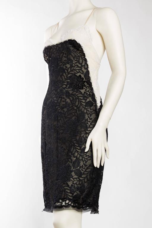 Women's Geoffrey Beene Backless Sheer Lace Dress For Sale