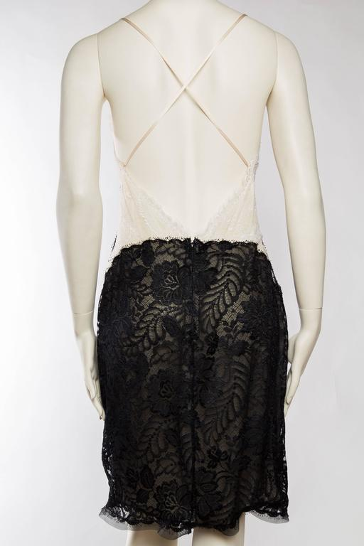 Geoffrey Beene Backless Sheer Lace Dress For Sale 1