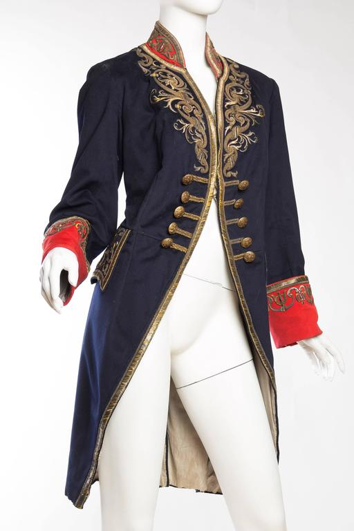 Victorian Livery Frock Coat With Antique Gold Embroidery