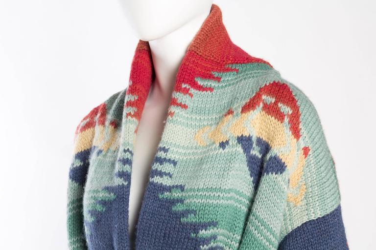 Ralph Lauren Hand Knit Navajo Blanket Inspired Sweater At