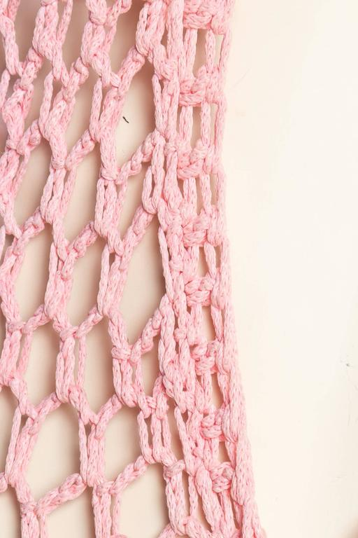 Dip-Dyed Crochet Boho Vest with Floor Length Fringe For Sale 6