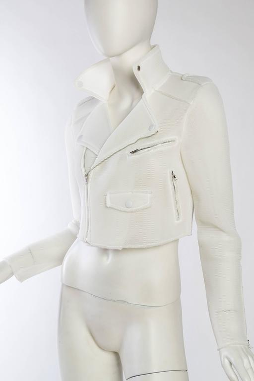 Women's Balenciaga Prototype Net Biker Jacket by Nicolas Ghesquiere For Sale