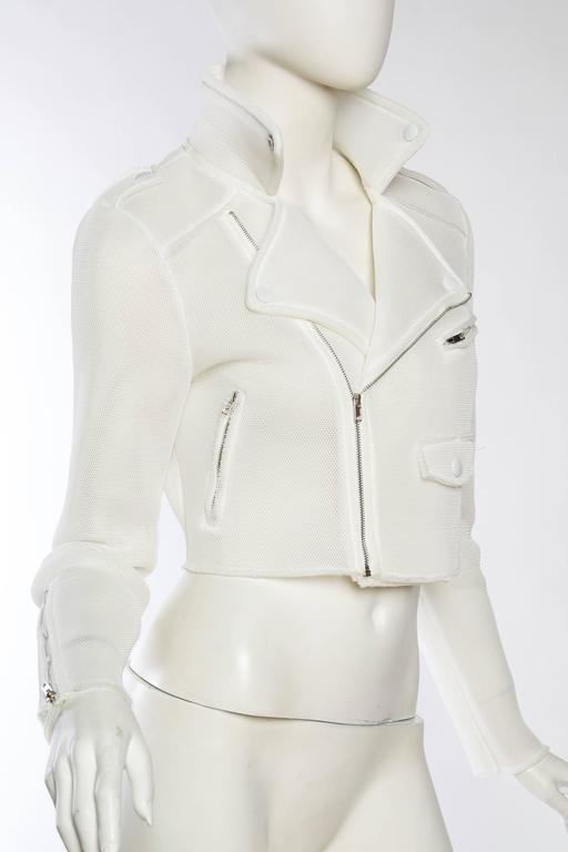 Balenciaga Prototype Net Biker Jacket by Nicolas Ghesquiere In Excellent Condition For Sale In New York, NY